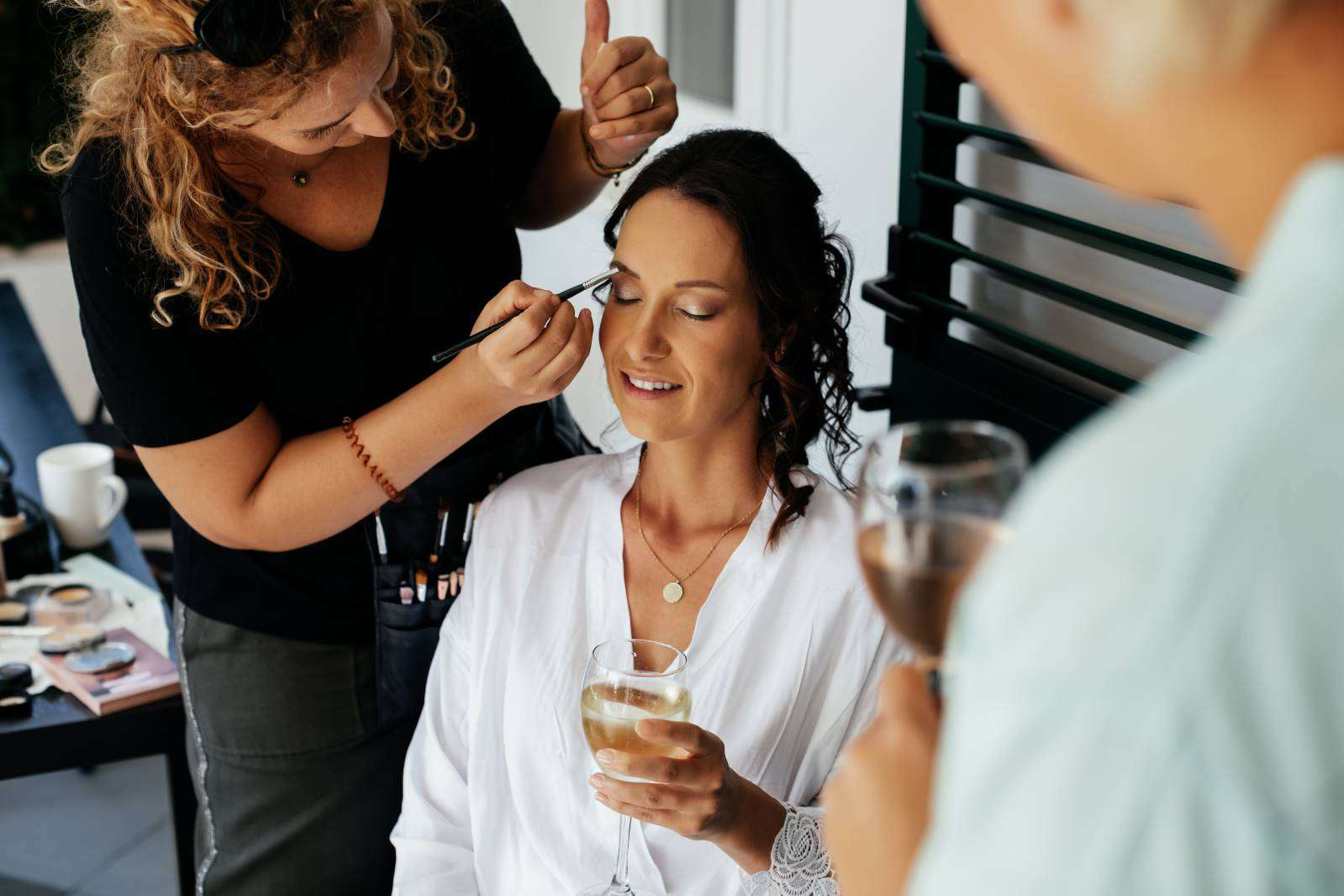 split make up wedding