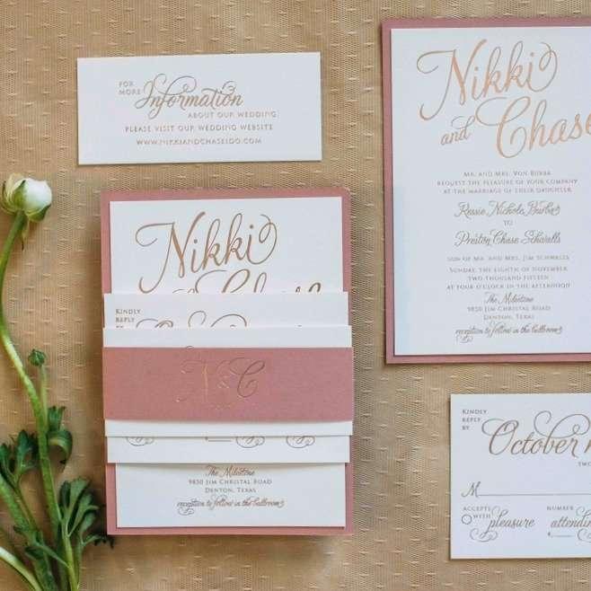 romantic wedding stationery