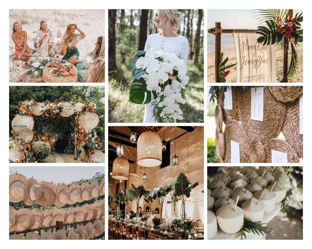 boho destination wedding
