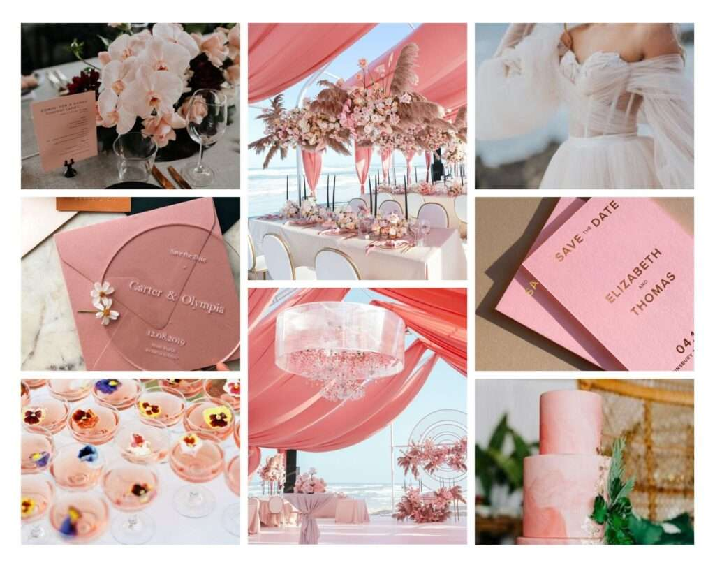 coral destination wedding